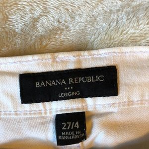 Banana Republic Distressed White Ankle Jeans